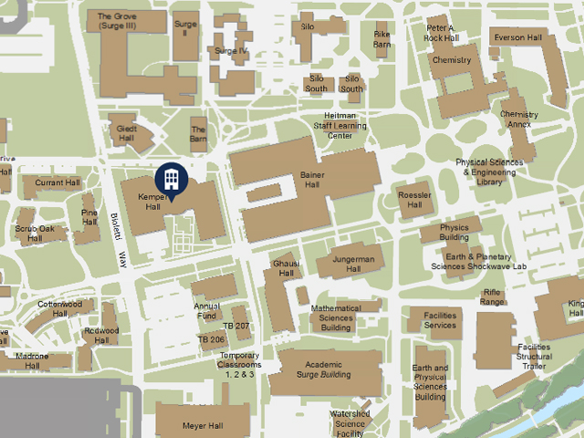 Map to Kemper Hall